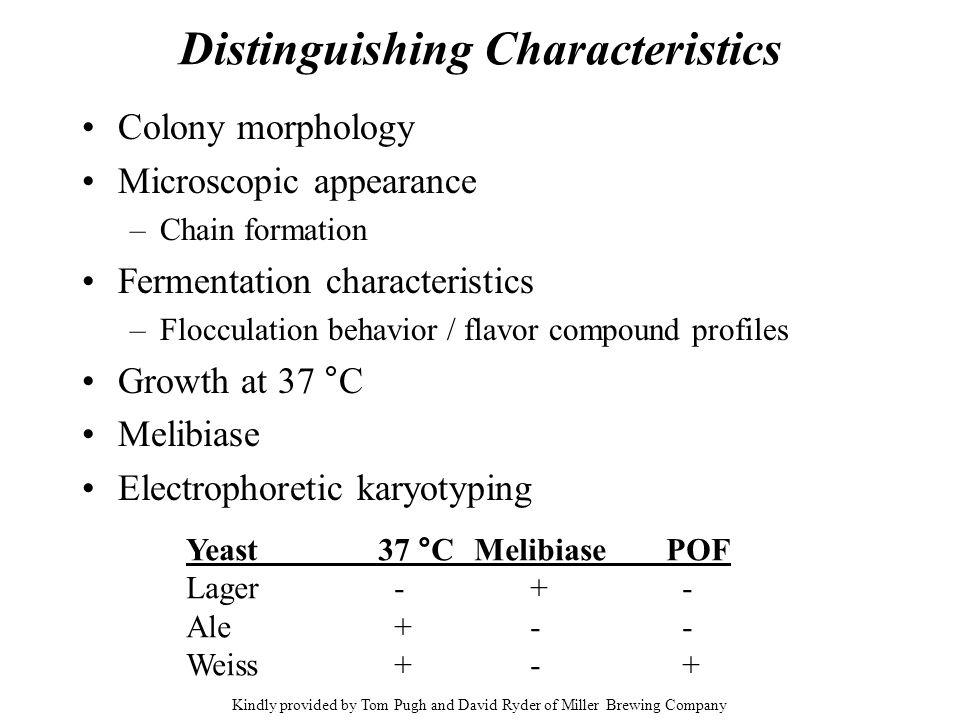 Distinguishing Characteristics