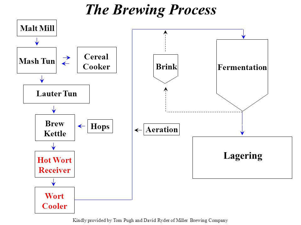 Kindly provided by Tom Pugh and David Ryder of Miller Brewing Company