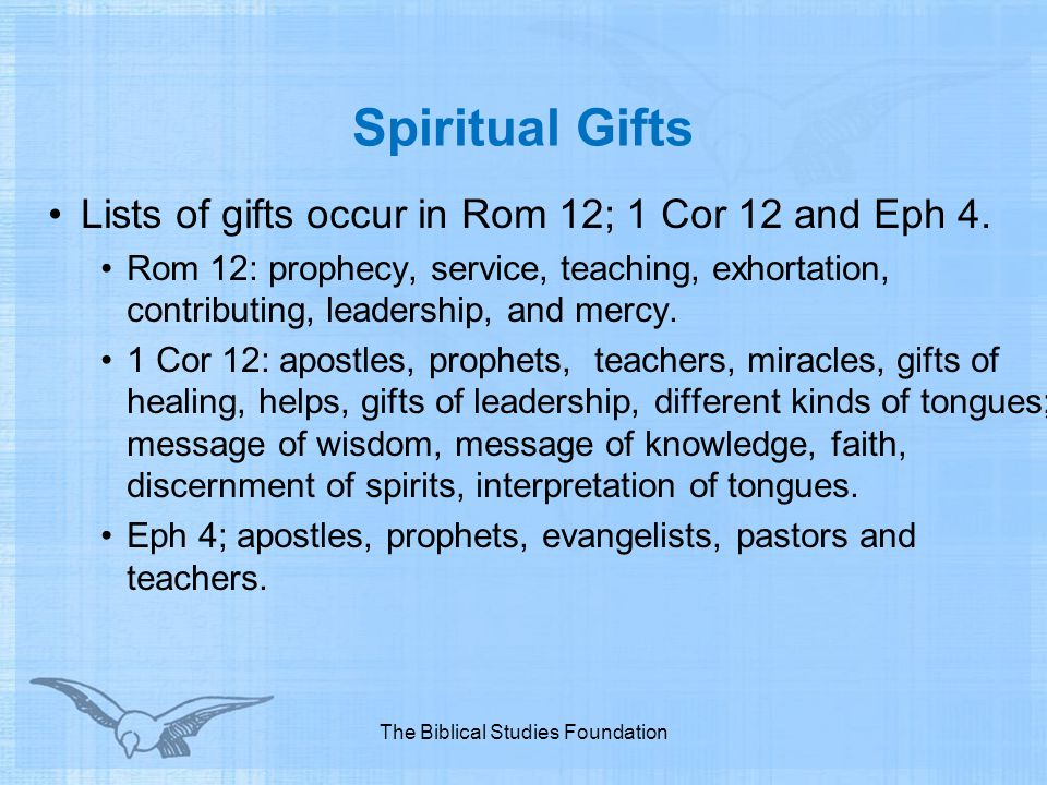 Study of the holy spirit ppt video online download the biblical studies foundation negle Image collections