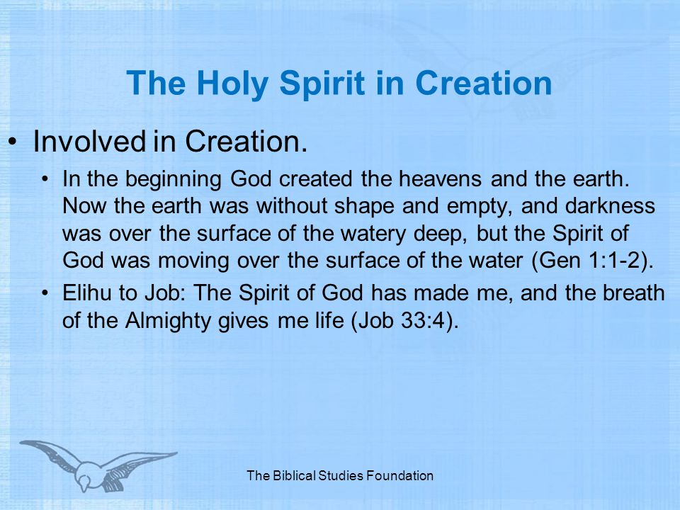 The Holy Spirit in Creation