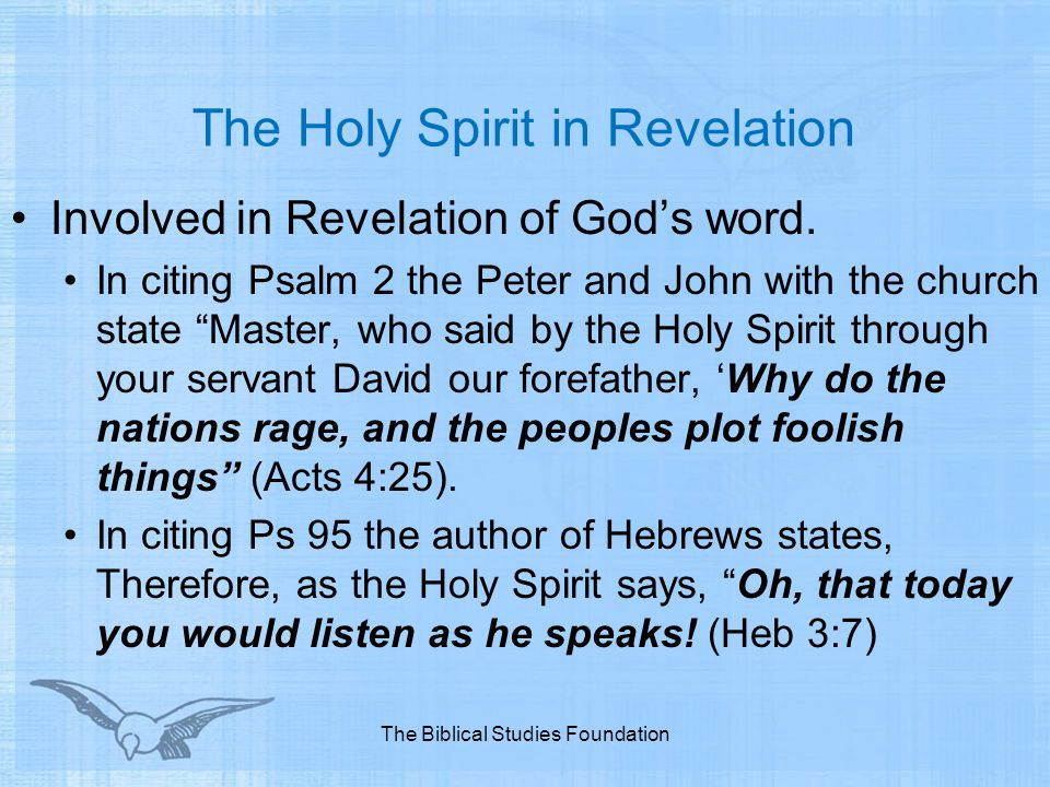 The Holy Spirit in Revelation