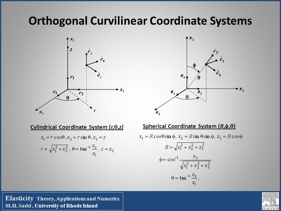 Orthogonal Curvilinear Coordinate Systems