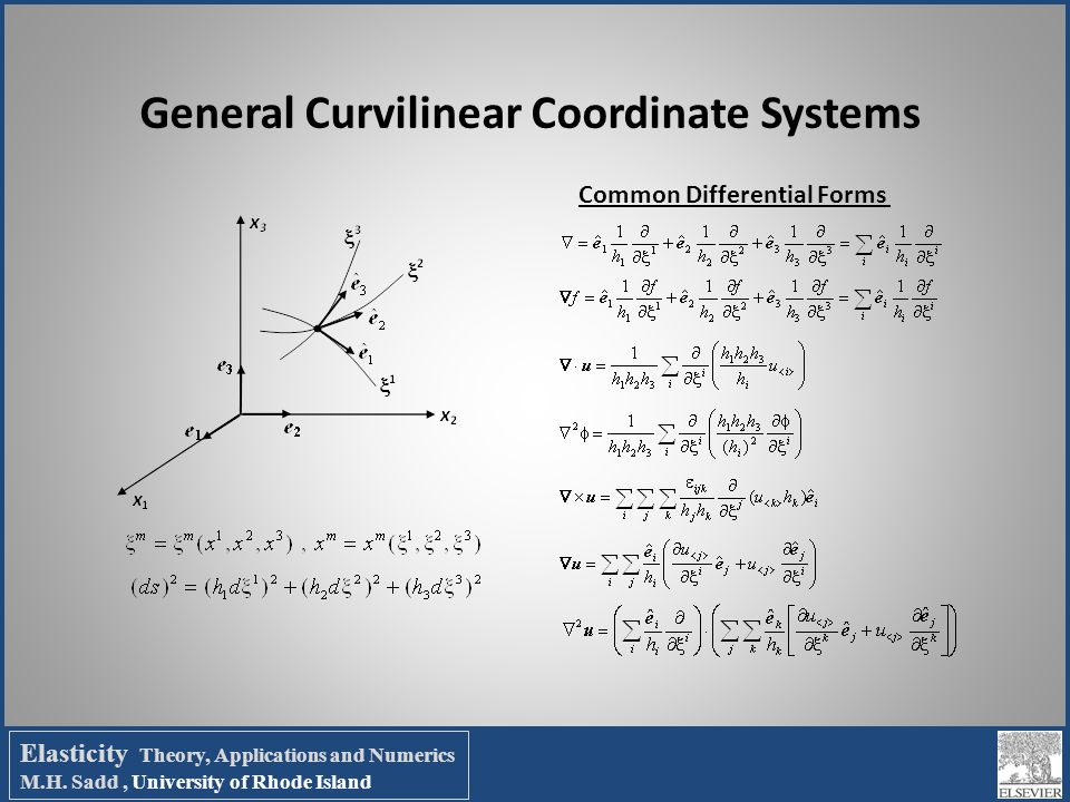 General Curvilinear Coordinate Systems