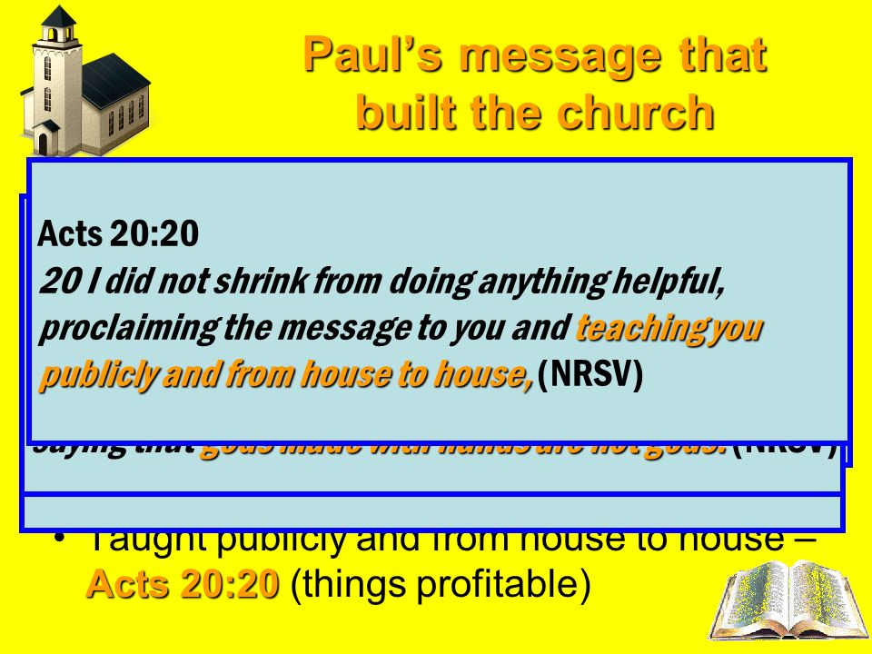 Paul's message that built the church