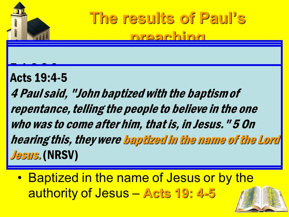 The results of Paul's preaching