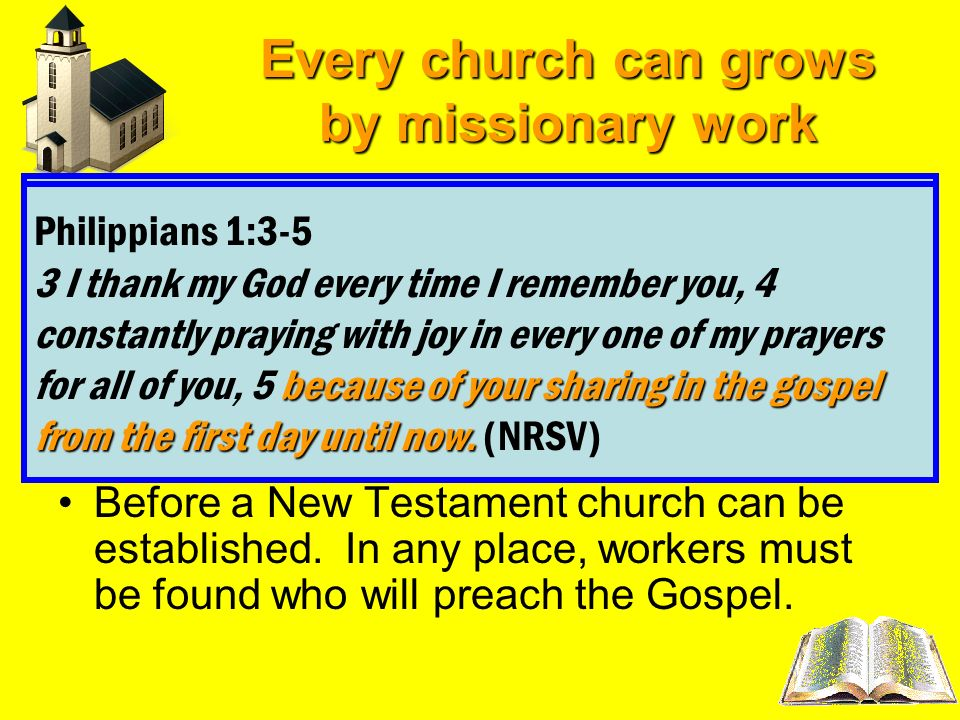 Every church can grows by missionary work