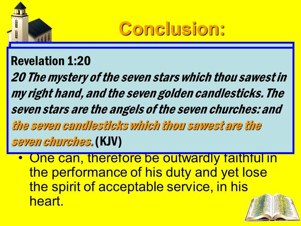 Conclusion: Revelation 2:5 Revelation 1:20