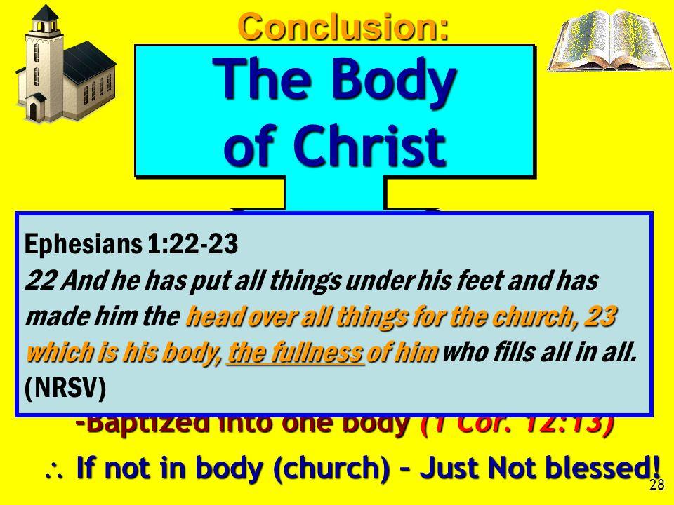 Fullness of Christ, Eph. 1:22-23