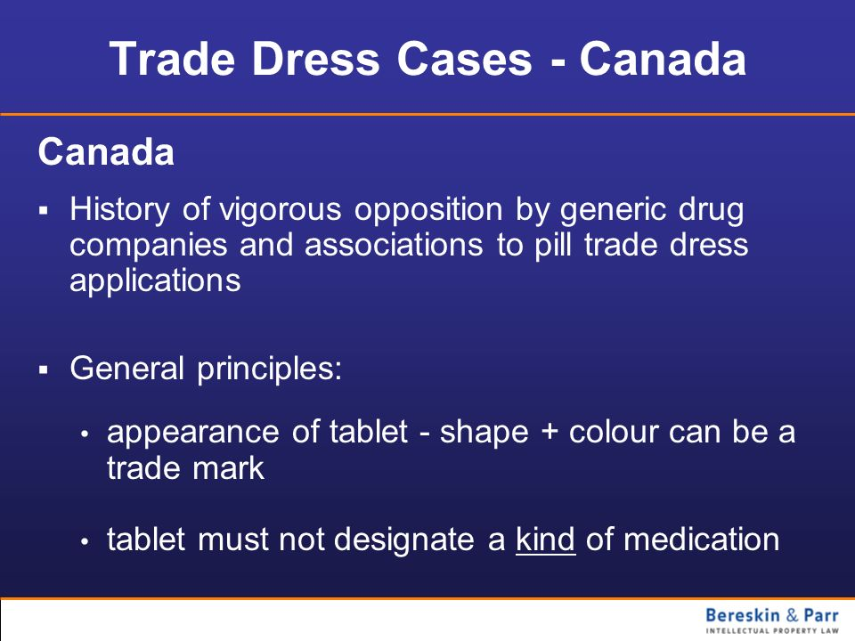 Trade Dress Cases - Canada