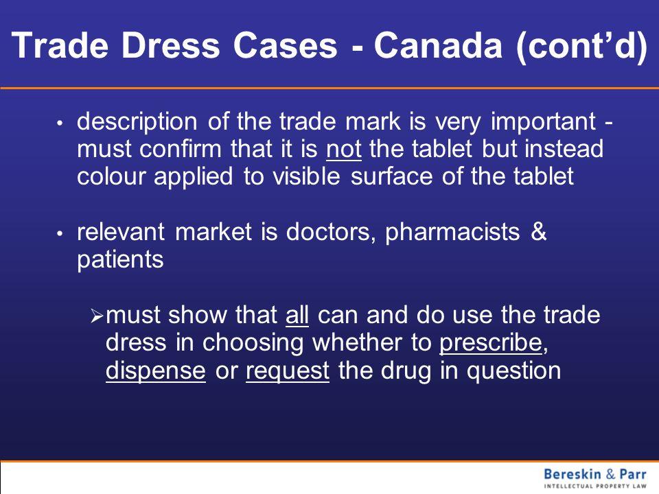 Trade Dress Cases - Canada (cont'd)