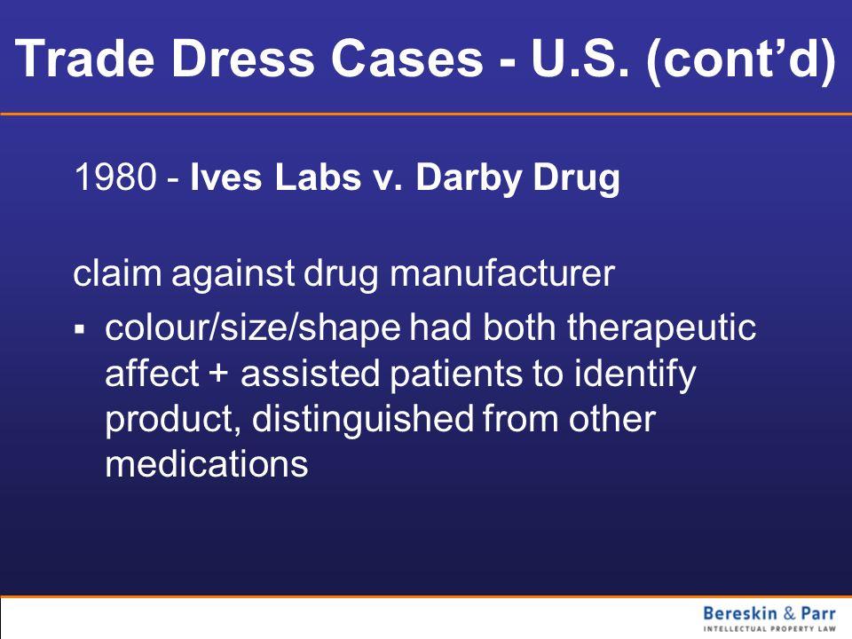 Trade Dress Cases - U.S. (cont'd)