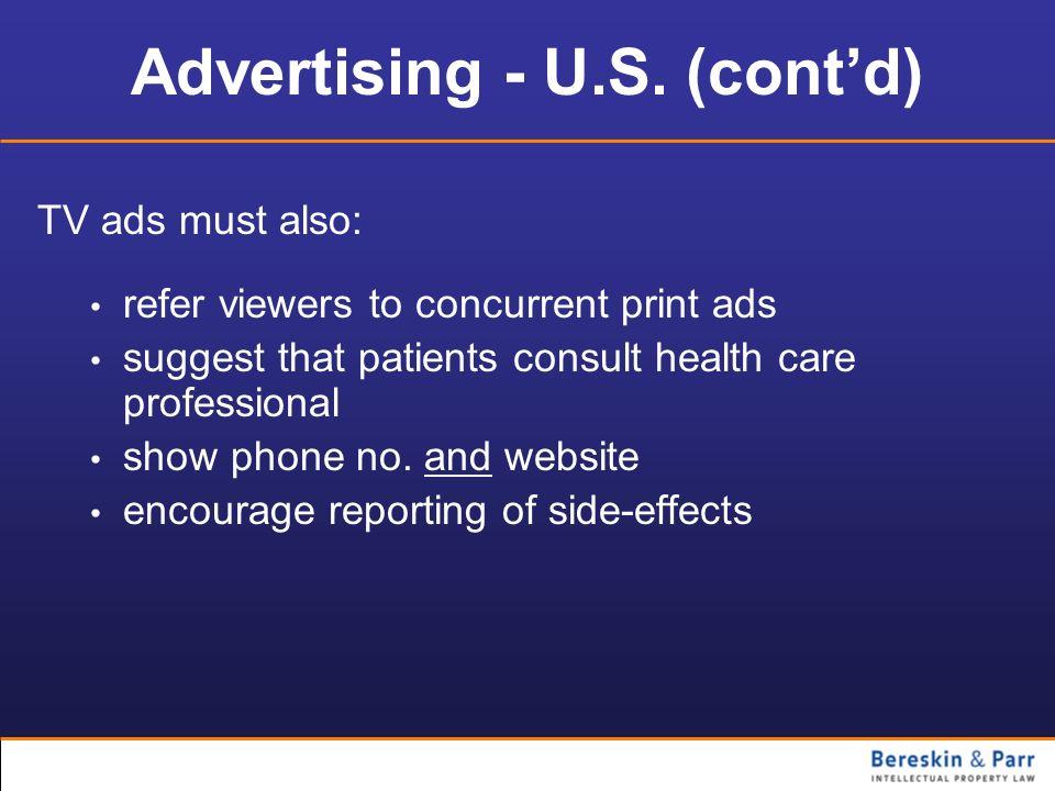 Advertising - U.S. (cont'd)