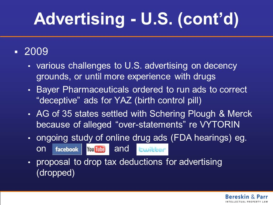 Advertising - U.S. (cont'd)
