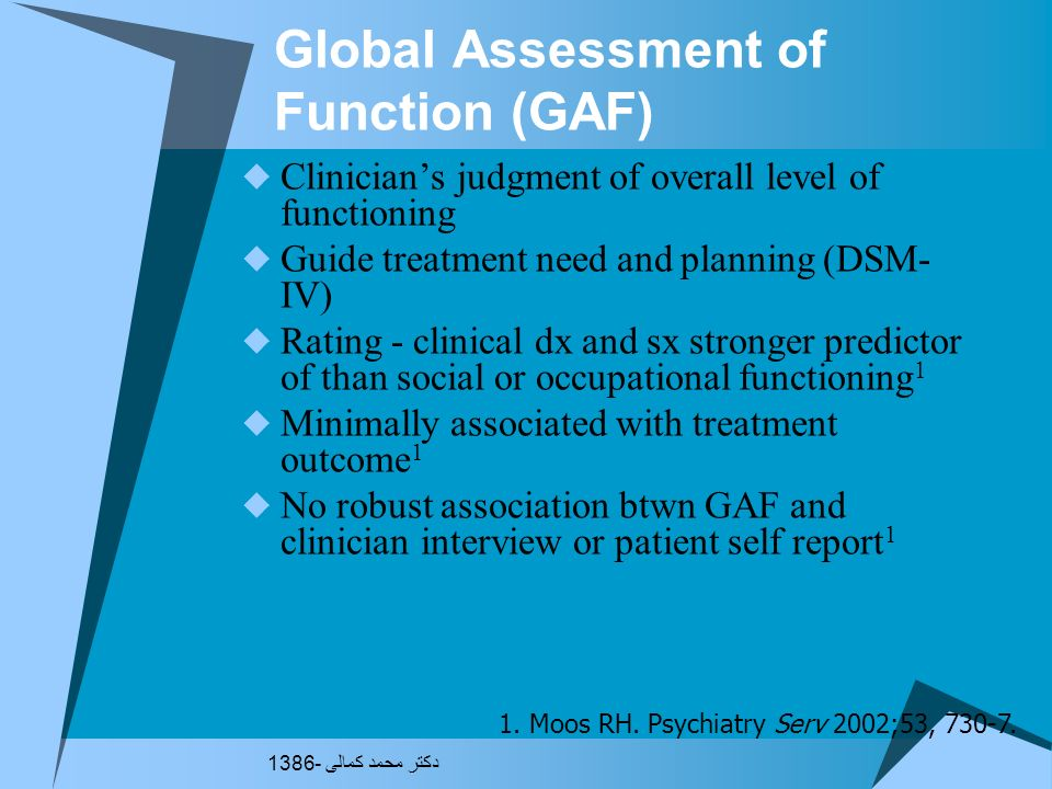 Global Assessment of Function (GAF)