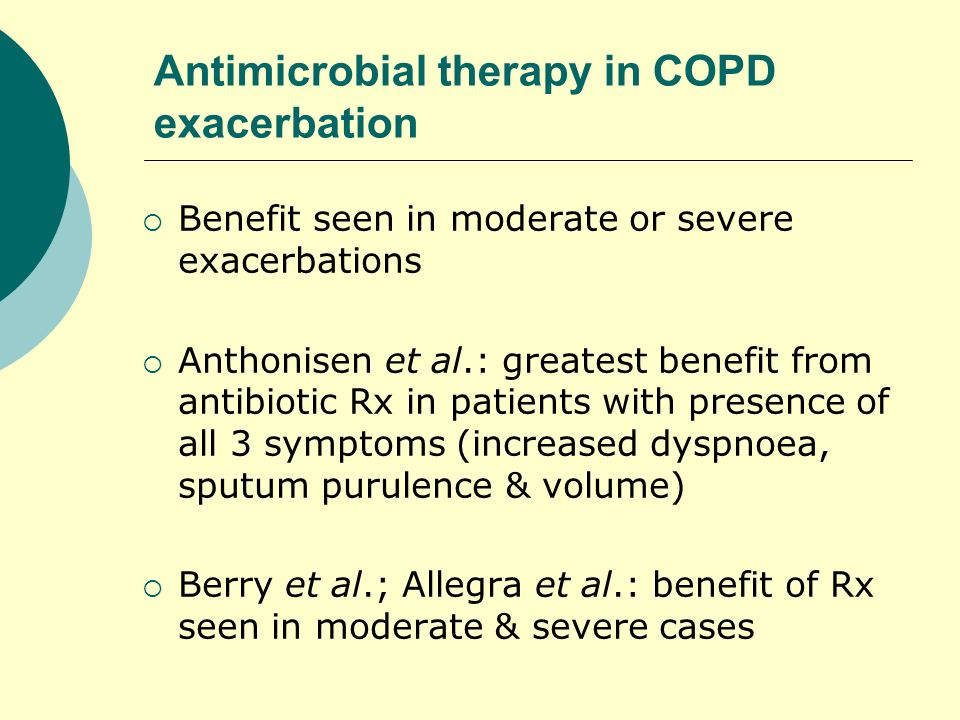 Antimicrobial therapy in COPD exacerbation