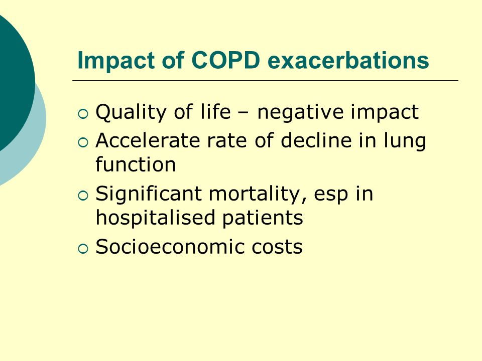 Impact of COPD exacerbations