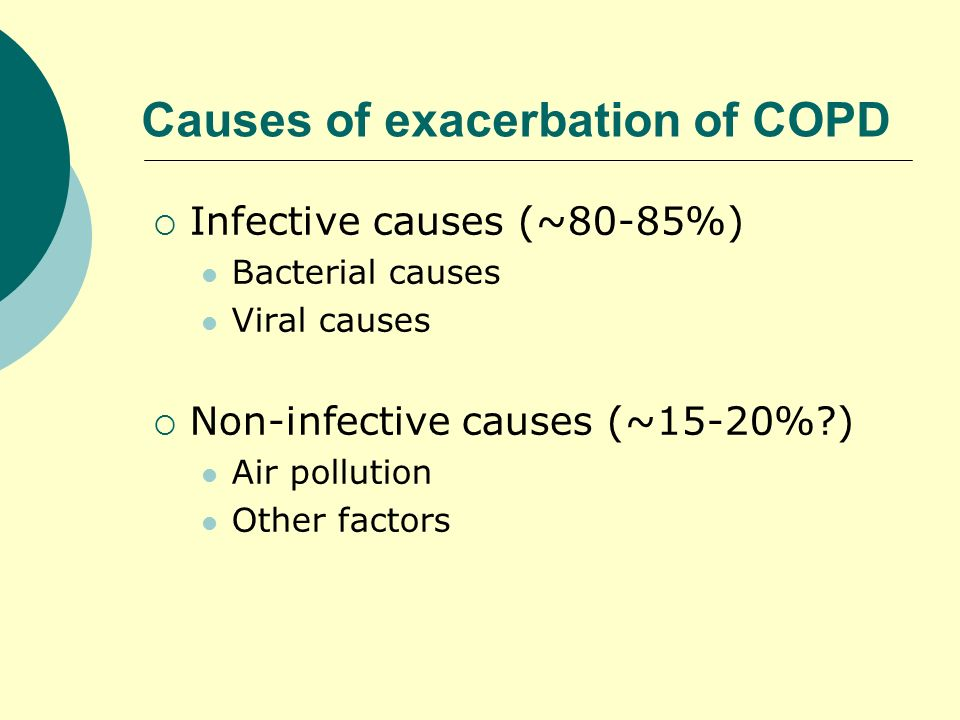 Causes of exacerbation of COPD