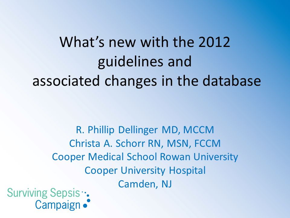 What's new with the 2012 guidelines and associated changes in the database