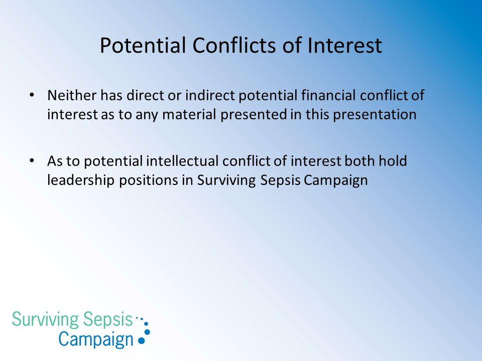 Potential Conflicts of Interest