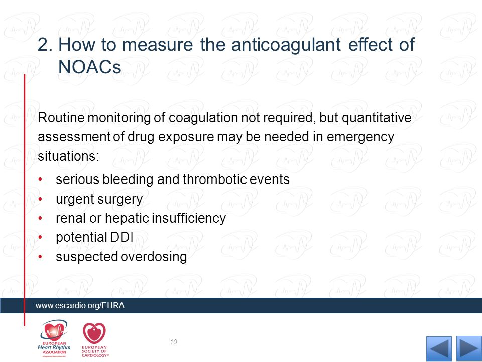 2. How to measure the anticoagulant effect of NOACs