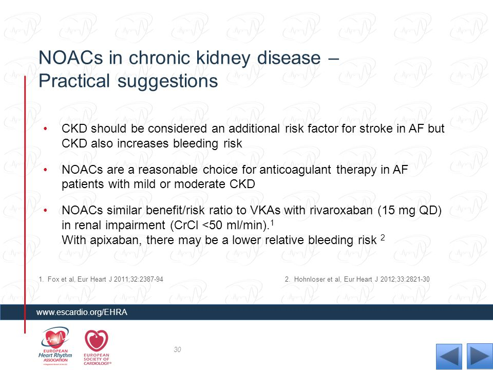 NOACs in chronic kidney disease – Practical suggestions