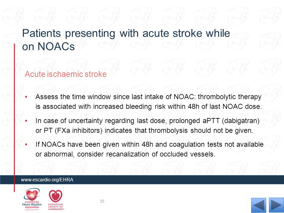 Patients presenting with acute stroke while on NOACs