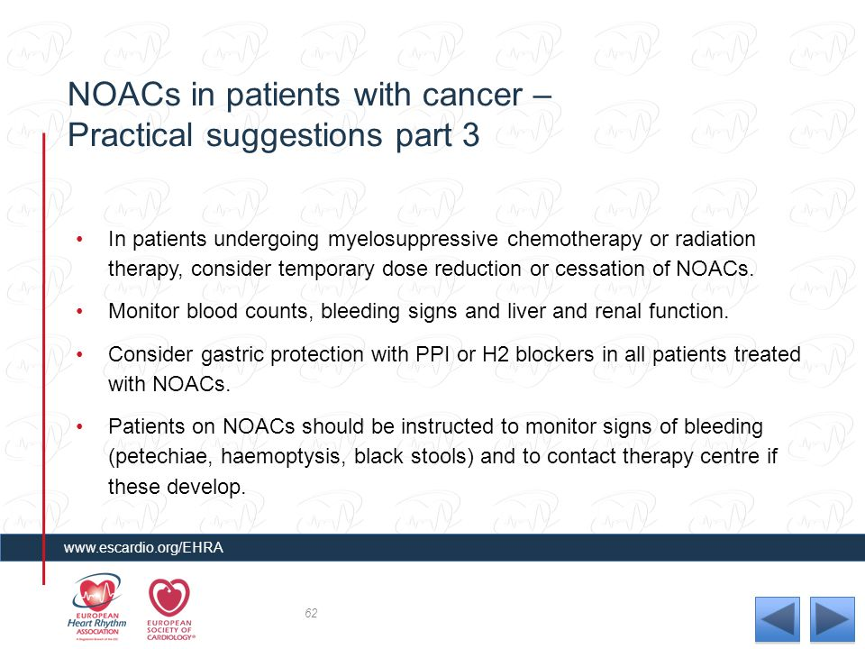 NOACs in patients with cancer – Practical suggestions part 3