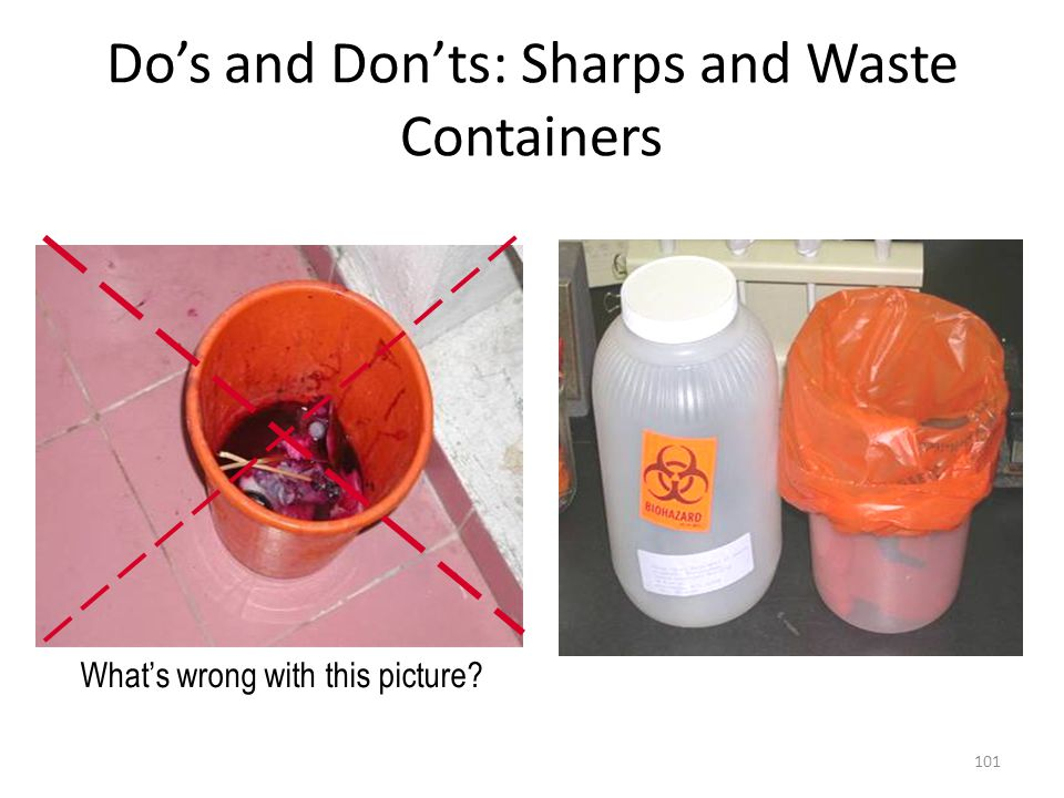 Do's and Don'ts: Sharps and Waste Containers