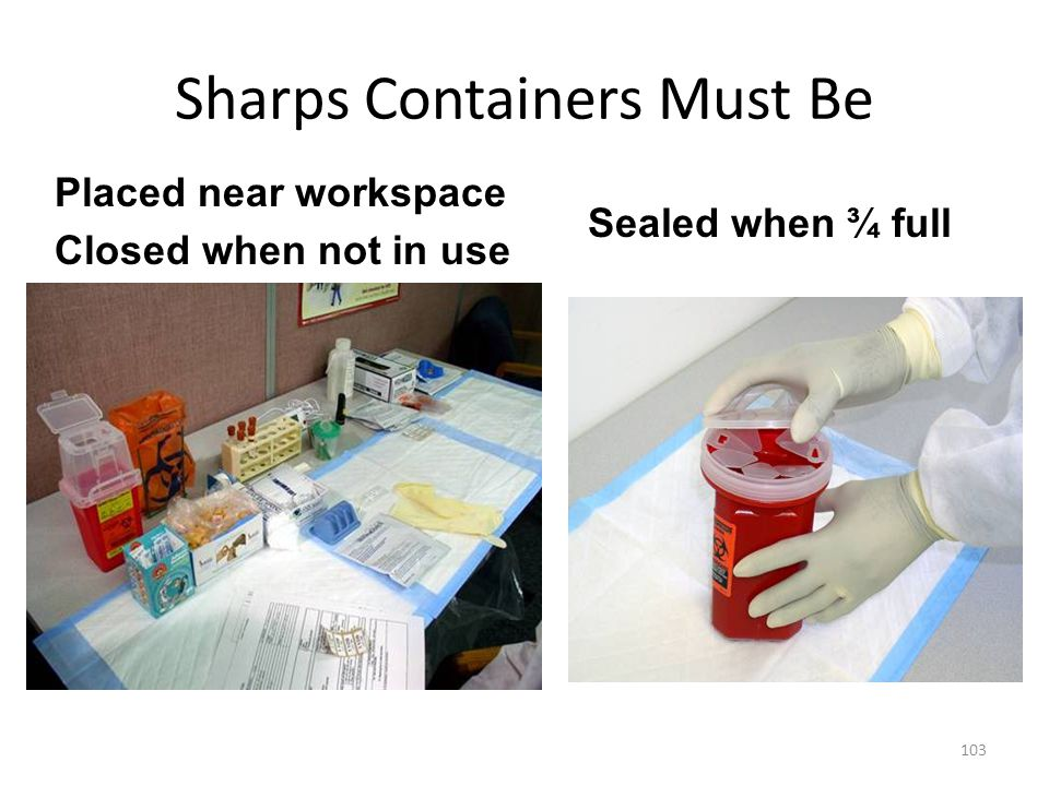 Sharps Containers Must Be