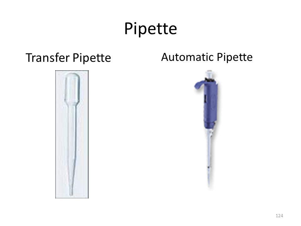 Pipette Transfer Pipette Automatic Pipette
