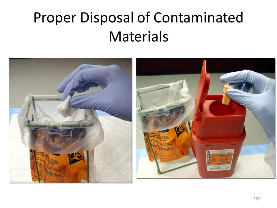 Proper Disposal of Contaminated Materials
