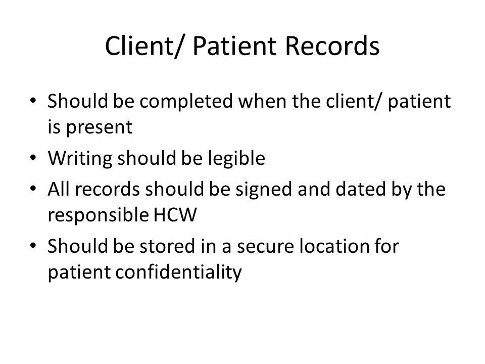 Client/ Patient Records