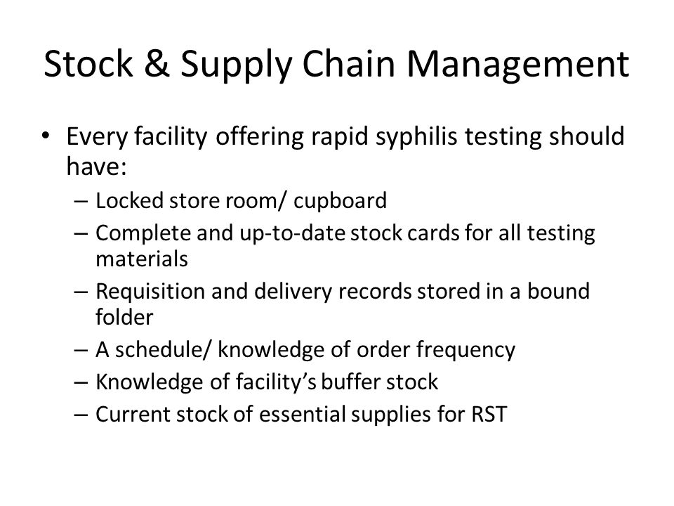 Stock & Supply Chain Management