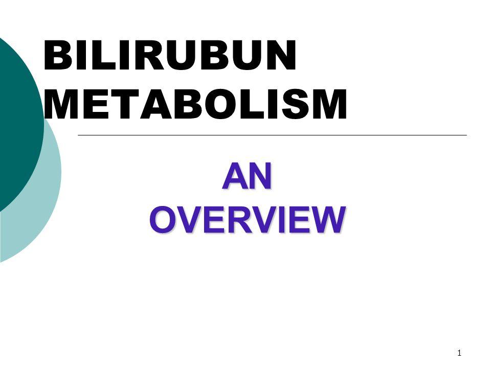 BILIRUBUN METABOLISM AN OVERVIEW
