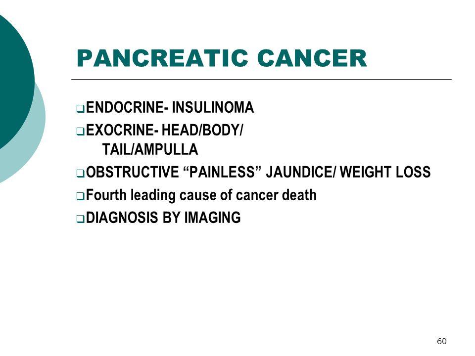 Painless Obstructive Jaundice