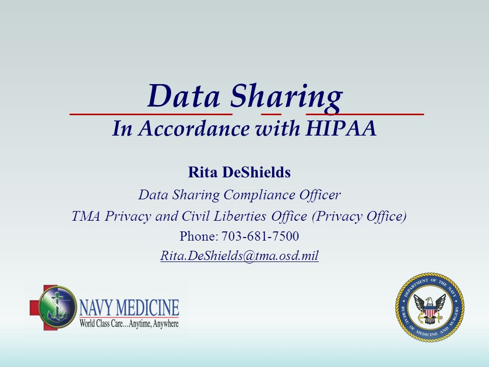 Data Sharing In Accordance with HIPAA