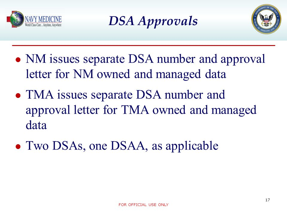 Two DSAs, one DSAA, as applicable