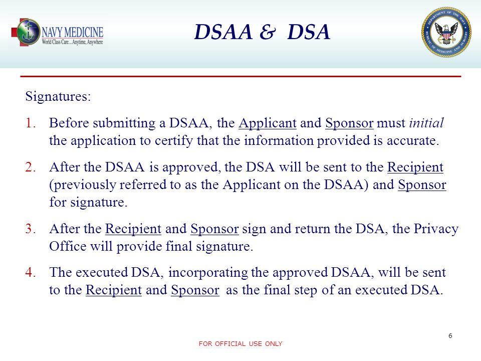 DSAA & DSA Signatures: