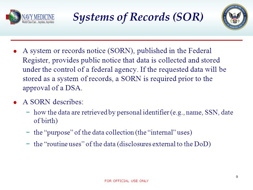 Systems of Records (SOR)