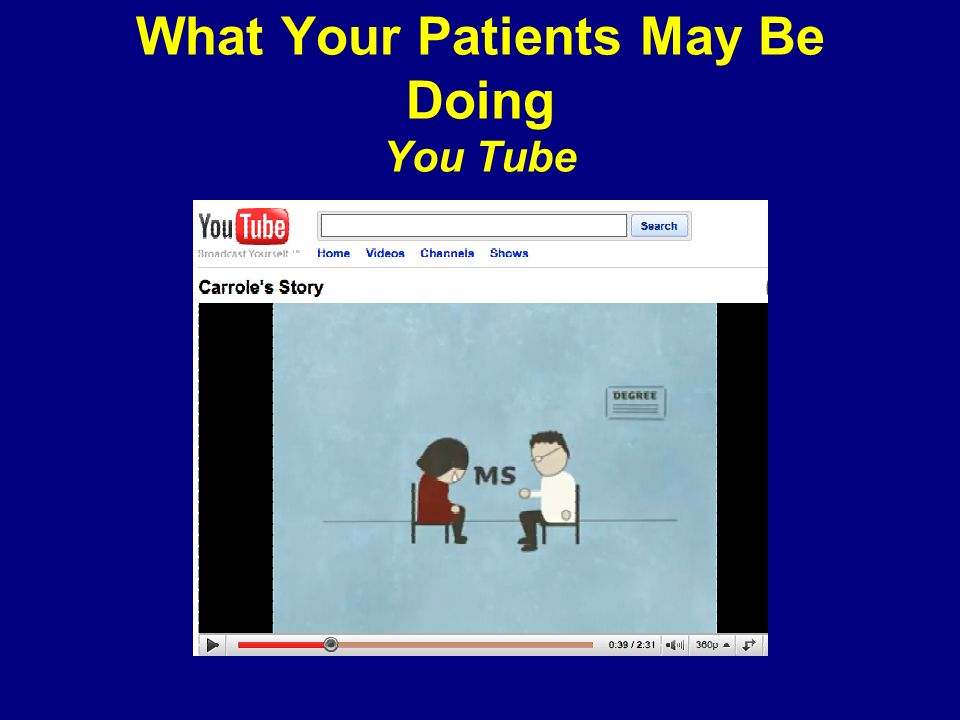 What Your Patients May Be Doing You Tube