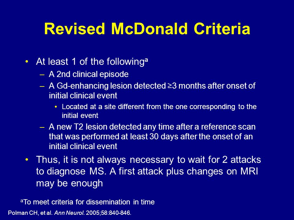 Revised McDonald Criteria