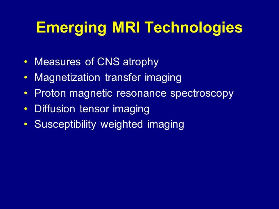 Emerging MRI Technologies