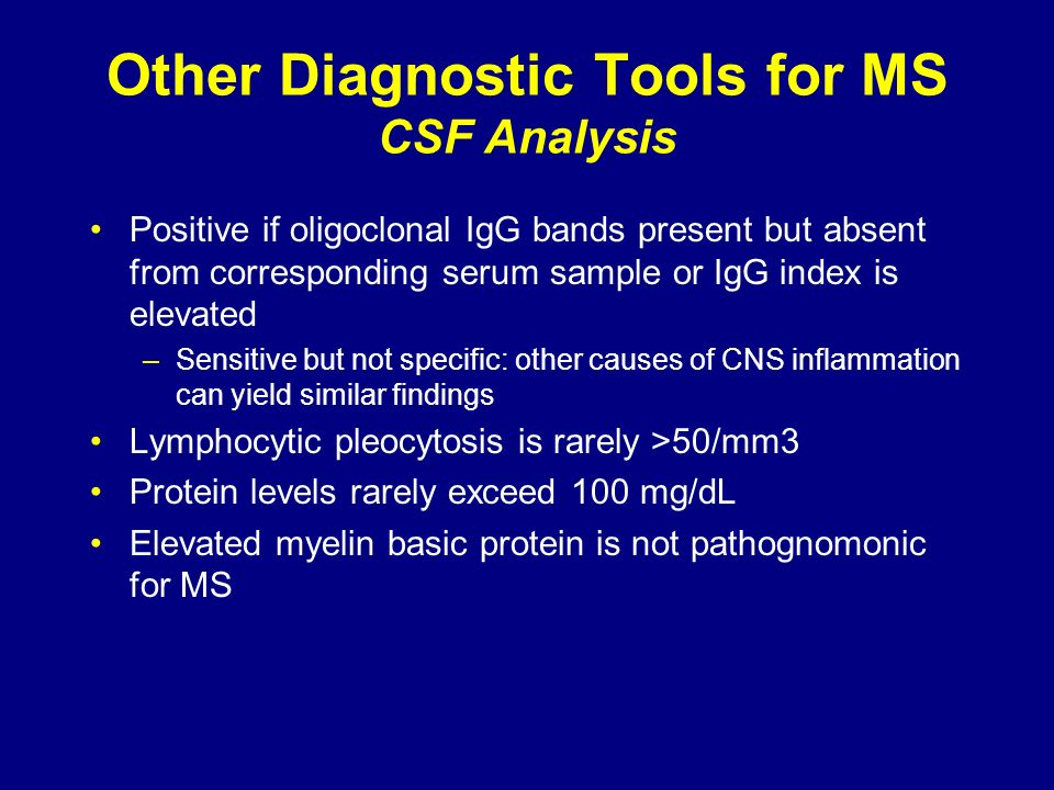 Other Diagnostic Tools for MS CSF Analysis