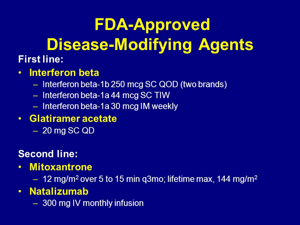 FDA-Approved Disease-Modifying Agents
