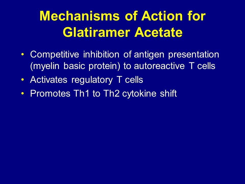 Mechanisms of Action for Glatiramer Acetate