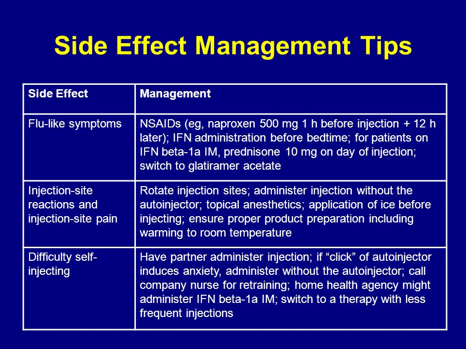 Side Effect Management Tips