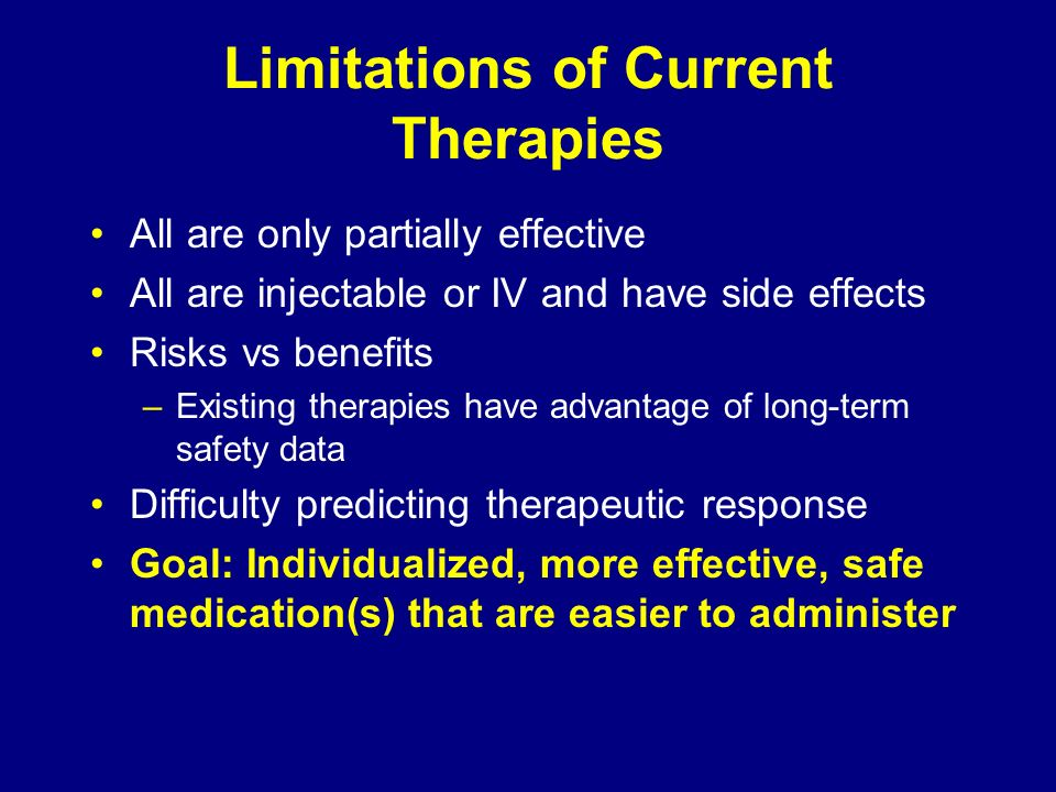 Limitations of Current Therapies