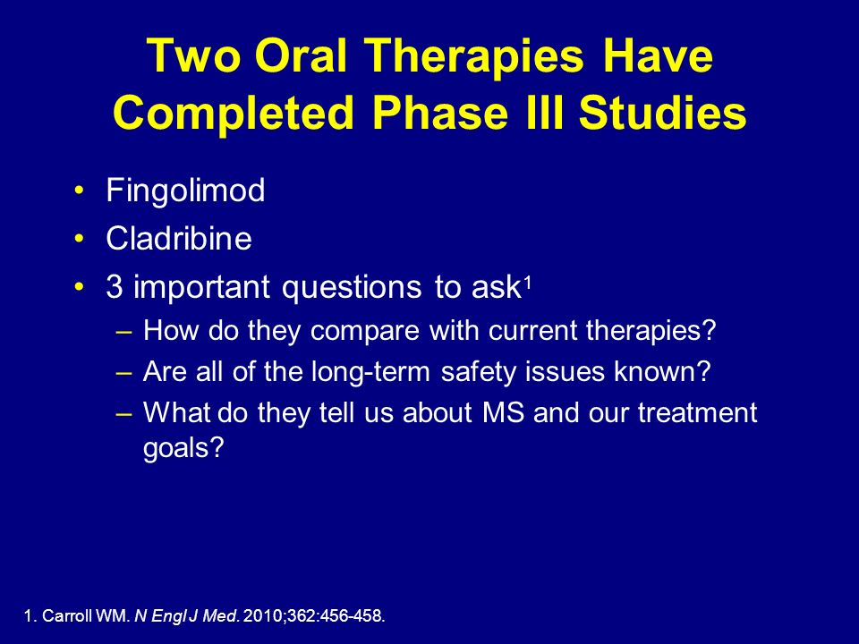 Two Oral Therapies Have Completed Phase III Studies