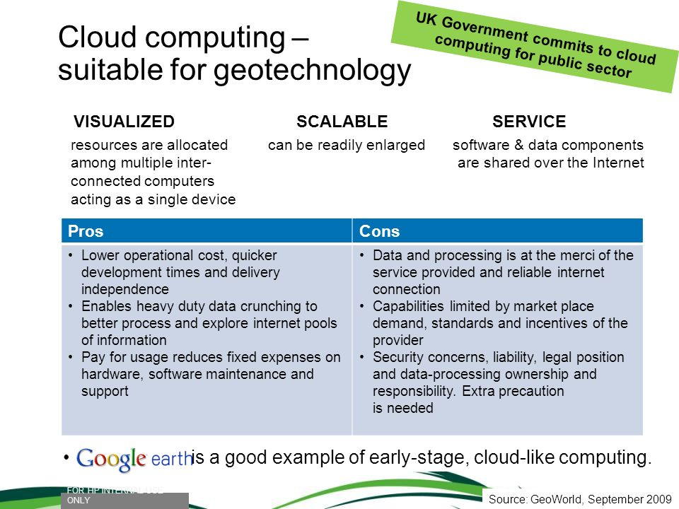 Cloud computing – suitable for geotechnology