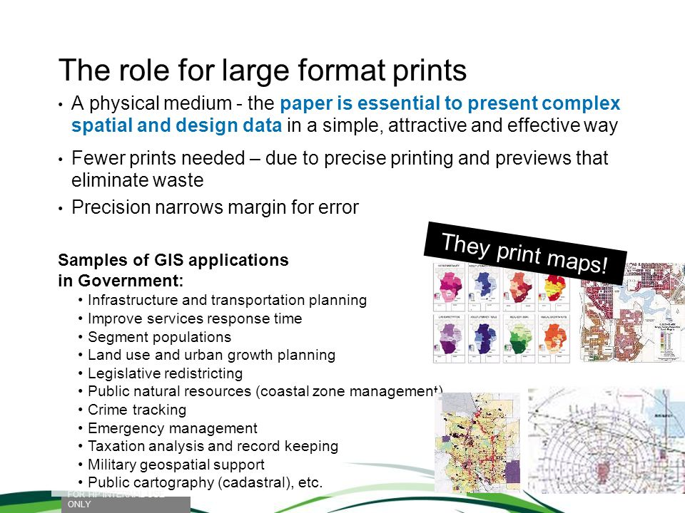 The role for large format prints